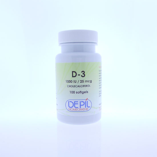 Vitamine D3 25 mcg softgel